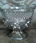 Indiana Glass Cut large bowl Candy Dish With nice design Smoked irredescent