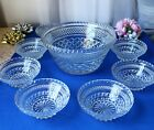 Anchor Hocking Wexford Fruit Salad Dessert 9-pc-Set Bowl and 8 Small Bowls