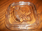 Vintage Clear Federal Glass Rib Vegetable Refrigerator Dish LID ONLY 4.25 X 4.25
