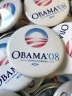 Set - 3 White 2008 Barack Obama Official Presidential Campaign Buttons Pins