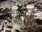 Nippon Hand Painted Salt and Pepper Dogwood Flowers Antique Vintage