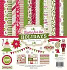 Echo Park Home For The Holiday 12x12 Scrapbook Kit Papers + Stickers Christmas