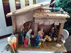 Vintage Sears Nativity Set 71 97581 7 Figures  Stable Italy w Box  Extras