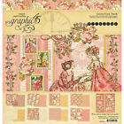 Graphic 45 PRINCESS Collection Kit 12X12 Double sided Scrapbook Paper G4501800