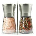 Salt and Pepper Grinder Set Table Stand Stainless Steel Spice Mill Salt Shaker