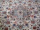 10X13 1940's HAND KNOTTED ANTQ 70+YEARS IVORY WOOL PERSIAN MASHADD ORIENTAL RUG