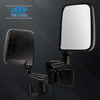 Side Mirror Kit Black for Jeep Wrangler 1987-2002 With Mount
