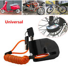 110DB Motorcycle Bicycle ATV Anti-theft Wheel Disc Lock Security Alarm Aluminum