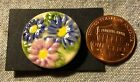 ONE Multi color Flower Floral Hand crafted Ceramic Shank Button 7 8 223mm 9087