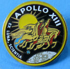 PIN enamel lapel NASA vtg APOLLO XIII 13 Mission AB Emblem OFFICIAL cloisonn