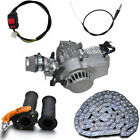 2 Stroke 49cc Engine +Throttle Grip +Cable +Chain +Kill Switch Pocket Quad Bike