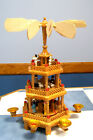 Vintage 3 Tier German Christmas Pyramid Carousel Nativity scene for repair N box