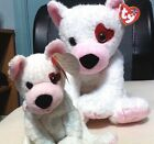 Ty Beanie & Buddy Duo Cupid, White/Pink Dogs for Valentine Day, MWMT & HTF