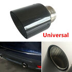 63MM Glossy Carbon Fiber Style Vehicle Car Exhaust Pipe Muffler Tip Tail Throat