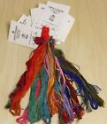 Carries Creation Hand Dyed Silk Threads 20 Mixed Skeins