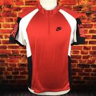 Vintage Nike Gray Tag Red Spell Out Cycling Jersey Size Medium