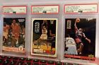 1994 KENNER SCOTTIE PIPPEN STARTING LINEUP CARD PSA 8, 8 AND 7 LOT OF 3