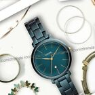 NWT 🦚 Fossil ES4409 Jacqueline Three-Hand Teal Green Stainless Steel 36mm Watch