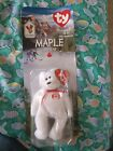 Maple The Bear 1999 McDonalds Ty Beanie Baby with rare tags errors