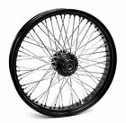 Black 60 Spoke Billet 21 x 35 Single Disc Front Wheel Harley