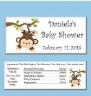 15 Boy Monkey Baby Shower Candy Bar Wrappers