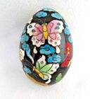 Chinese Butterfly Floral Cloisonne Enamel Egg