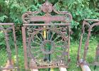 Mid 1800s Antique Fancy Cast Iron Gate Fence Troy Albany Ny Parlor Stove Co