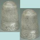 Antique English Sterling Silver Ivy Band Thimble by Charles Horner*1903 Hallmark