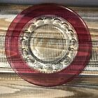 Tiffin Indiana Glass Kings Crown Thumbprint Red Ruby Cranberry 8.25