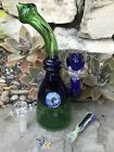 Best 95 Quality Glass Blue Green Water Implosion Blue Claw Bowl + Extras