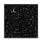 Hero Arts STAR LIGHT STAR BRIGHT Background Cling Bold Prints Stamp 6x6