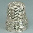 Antique Sterling Silver Patented Grape Vine Thimble * 1907 Patent