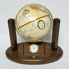 Replogle World Globe Classic Series For Executive Desk with Clock Wood Base UOP