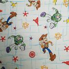 Vintage 90s Toy Story Flat Sheet Double Disney Fabric Craft Woody Buzz USA NEW