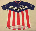 Mens Red White Blue Giordana Campagnolo Brooklyn Cycling Jersey Pit To Pit 21 22