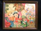 Vintage Framed Valentine Cards Montage 8 1/2 Inches by 10 1/2 Inches