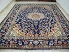 10X13 1940s EXQUISITE AUTHENTIC ANTQ 70+YEARS PERSIAN WOOL ISFAHANN ORIENTAL RUG