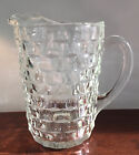 Vintage Original Indiana Glass Whitehall Pitcher Clear Glass 9