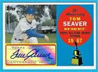 2008 Tom Seaver Topps 50th Anniversary All Rookie Team Autograph SP 18 25 Mets