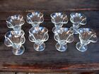 Set of 8 Ice Cream Sundae Cups Dishes Tulip Footed Soda Fountain Vintage 4.5