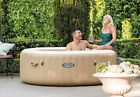Intex Pure Spa 4 Person Inflatable Portable Heated Bubble Hot Tub Model 28403E