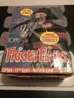 1988 Topps Fright Flicks Trading Card Box With 36 Unopened Wax Packs Freddy