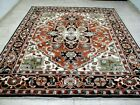 8X10 BRAND NEW BREATHTAKING HAND KNOTTED WOOL PERSIAN HERIZ DESIGN ORIENTAL RUG
