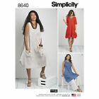 Simplicity 8640 Sewing Pattern Dress Tunic Misses 10-18 Womans 20w-28w Heigl