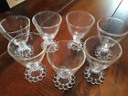 7 Vintage Clear Glasses Boopie Candlewick 4
