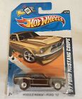 2012 HOT WHEELS SUPER TREASURE HUNT 67 FORD MUSTANG COUPE REDLINE MUSCLE MANIA