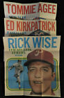 (6) 1970 TOPPS POSTERS BASEBALL LOT CLEAN