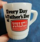 Rare FIRE KING Every Day is Father's Day at BONANZA Milk Glass Advertising Mug