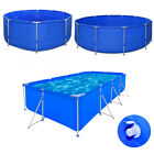 Metal Frame Above Ground Swimming Pool Family Outdoor Backyard Summer Spa Pool