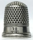 Unknown Maker - Coin Silver Thimble - Plain band between reeded band and rim